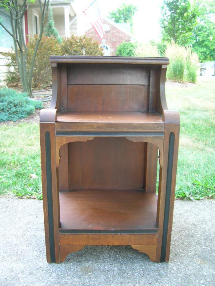 Art Deco 40's Nightstand vintage wood For Restoration