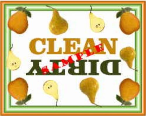 Pear Dishwasher Magnet Clean Dirty portable    XL SIZE BEST VALUE!