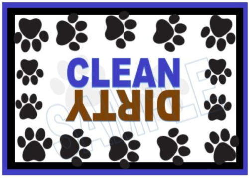 Paw Dishwasher Magnet Clean Dirty portable   XL SIZE BEST VALUE!