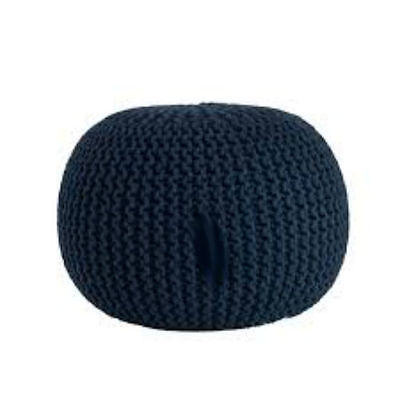 Cotton Twisted Rope Pouf Ottoman Home Furniture Decor New Hand Knitted Handmade
