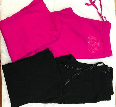 Lot of Womens/Juniors Large Pink and Black Lounge Pajama Pants: Express, Arizona