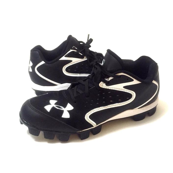 Men's Under Armour Black/White Baseball Cleats Size 9
