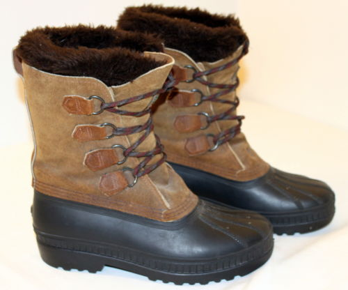 SOREL Insulated Waterproof Duck Feet Leather Snow Boots - Winter Field - Mens 7