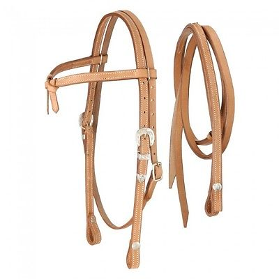 Royal King Light Oil Futurity Browband w/ Silver Buckle Bridle Horse Tack Equine