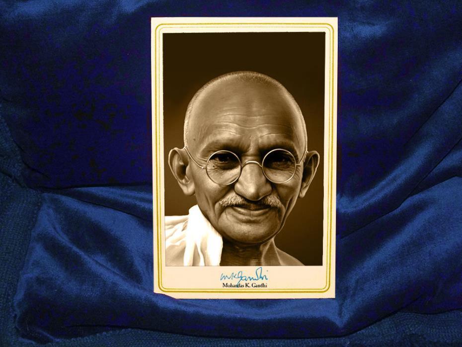 Mohandas Gandhi Indian Visionary Vintage Photograph A++ Reprint Cabinet Card