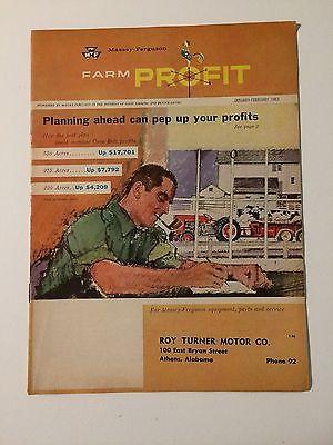 Massey-Ferguson Farm Profit Magazine '63 MF 35 50 65 90 Tractor 300 Combine MINT