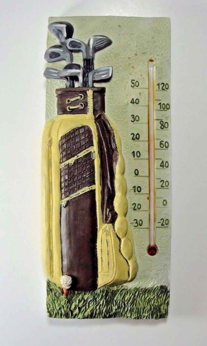 GOLF Theme Thermometer Home Garden Decor