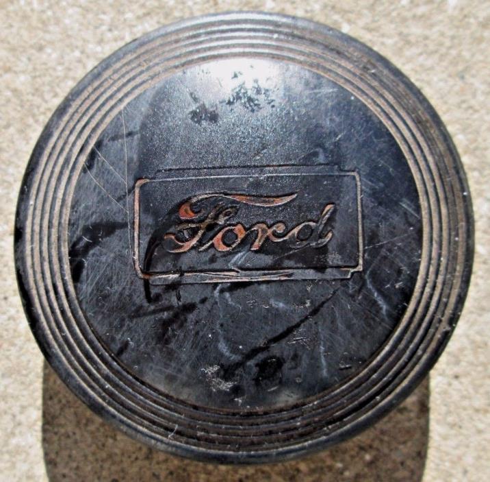 Vintage Ford Black Center Hub /Cap Plastic/Bakelite ?