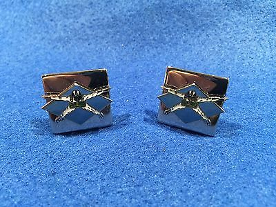 1970's Vintage Parachute Skydiving Cuff Links