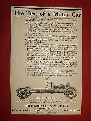 1907 ROLLS-ROYCE AUTOMOBILE  AD