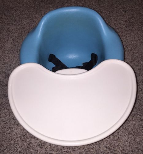 BUMBO SEAT w/ TRAY Baby Floor Chair AQUA Blue EXCELLENT!
