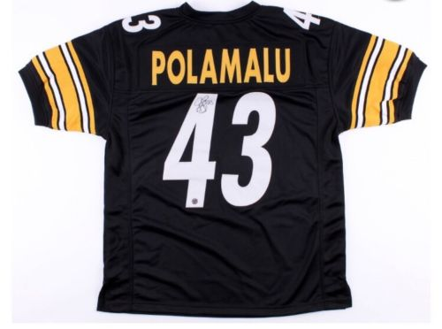 Troy Polamalu Signed Pittsburgh Steelers NFL Jersey TSE Authentic