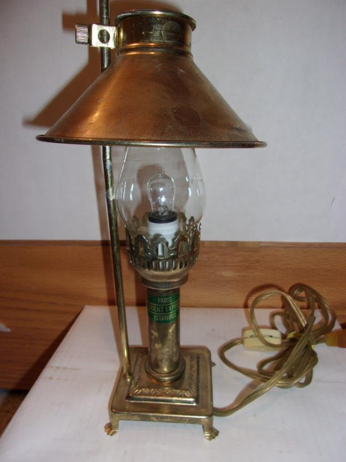 paris orient express lamp for sale classifieds. Black Bedroom Furniture Sets. Home Design Ideas
