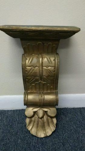 Carved gold gilt wood corbel shelf