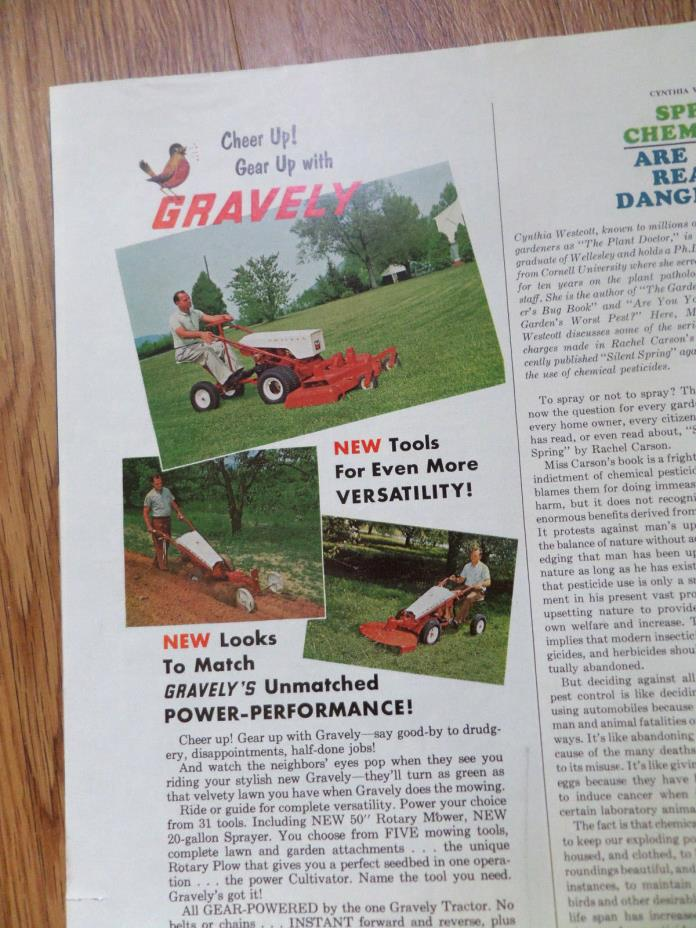 1965 Gravely 4 Wheel Tractor : Gravely lawn tractors for sale classifieds