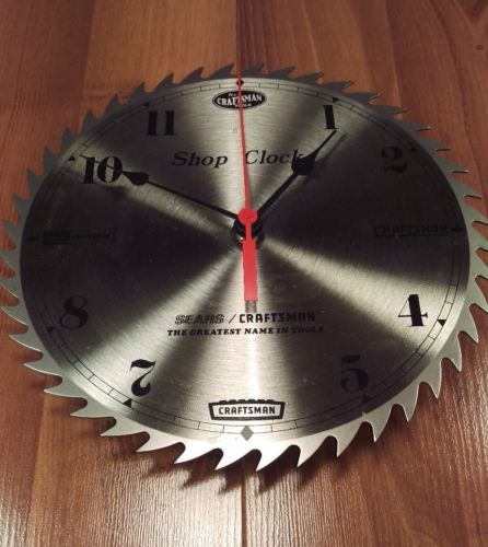 Sears Craftsman Shop Clock Saw Blade Battery Operated Wall Clock