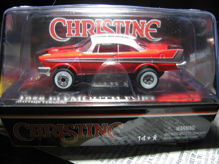 AW AFX AURORA CHRISTINE 1958 PLYMOUTH NO LITE THUNDERJET NEW HO SLOT CAR IN CUBE