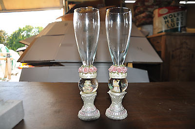 Set of two Wedding Champagne Flutes