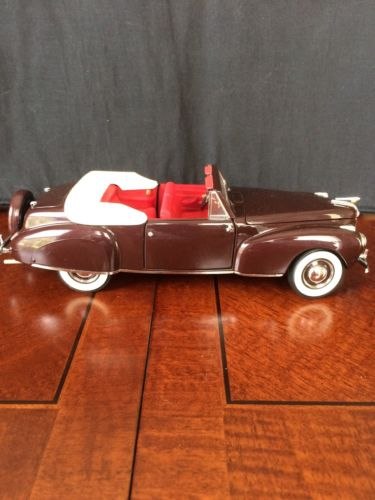 Franklin Mint 1/24 Scale DieCast 1941 Lincoln Continental Convertible
