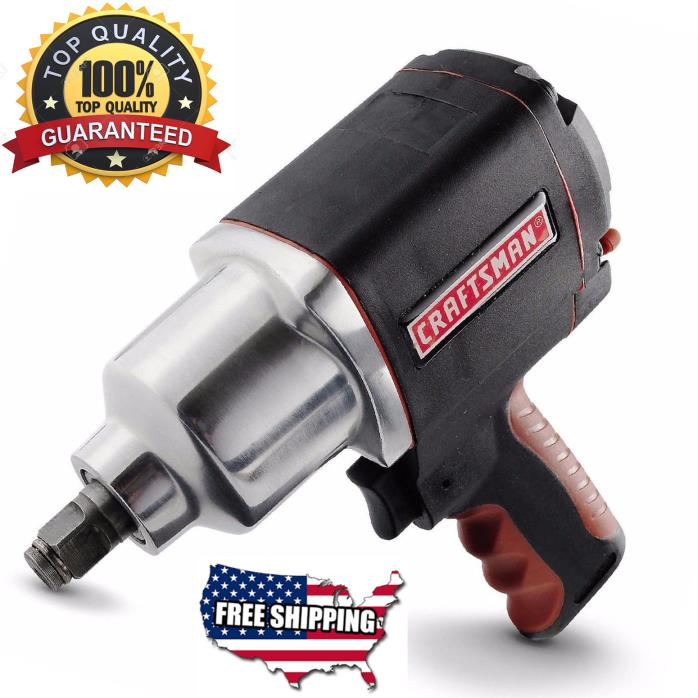 Craftsman Impact Wrench Heavy Duty Cordless Tool Kit Air Battery 1/2In Powerfull