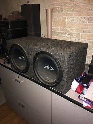 Subwoofer Box with 2 Alpine 12