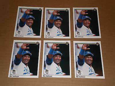 Lot of (6) 1990 Bo Jackson Upper Deck All-Star cards #75. Kansas City Royals