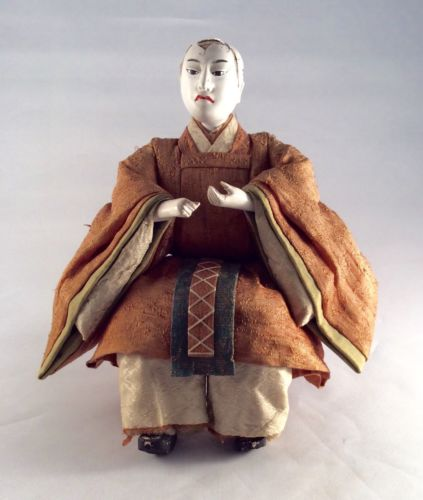 Antique Japanese Doll Silk Clothes