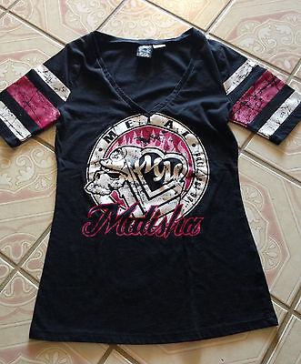 $49 Metal Mulisha Women's Elite Football T Shirt Black Jersey Top