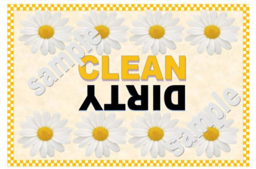 DAISY Dishwasher Magnet Clean Dirty portable     XL SIZE BEST VALUE!