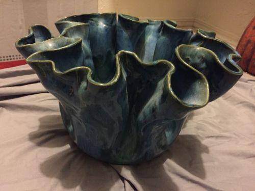 Large Blue Decorative Vase