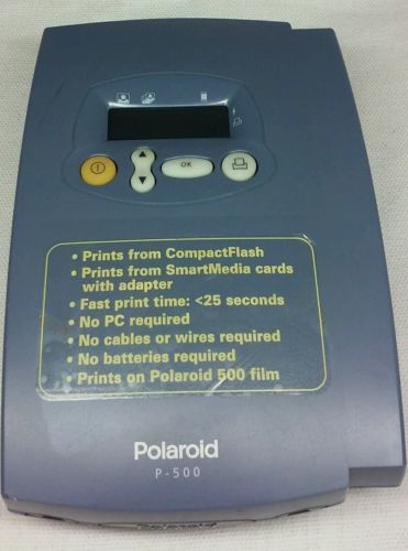 Vintage Portable Polaroid P500 Photo Printer Uses 500 Film, No Cables Required