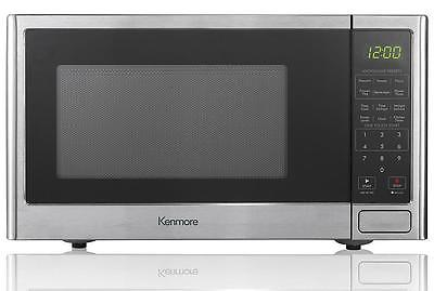 NEW Kenmore Stainless Steel Small Countertop Microwave 900W 0.9cuft