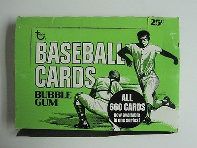1975 Topps Baseball Cello Pack  Display Box