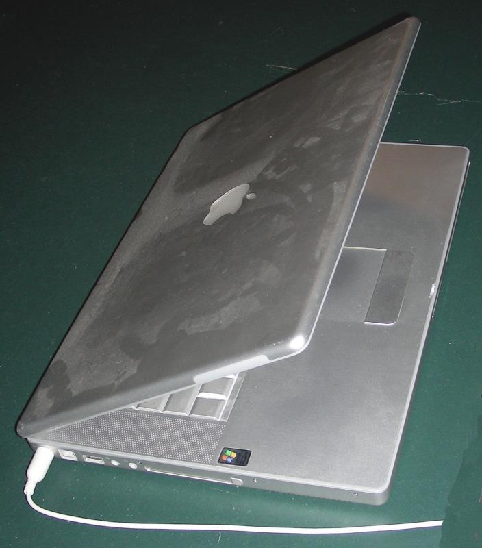 Apple PowerBook G4 laptop computer = display problem