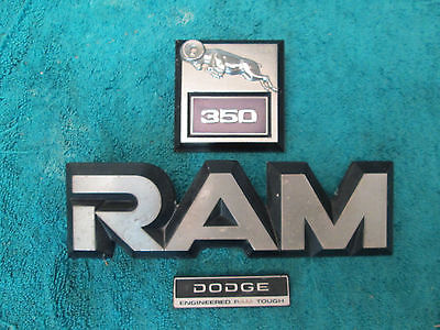 Dodge Ram 350 Emblems  Late 1980's Early 1990's Pickup Truck