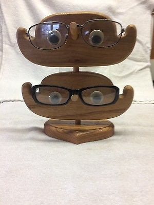 Eye Glass Solid Oak Holder