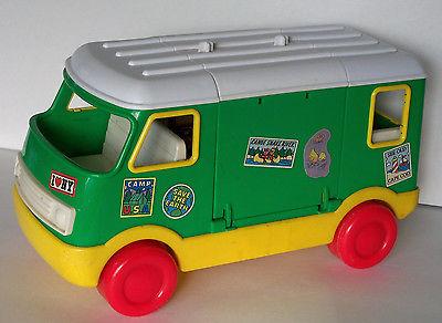 Vintage Tyco Sesame Street RV Camper Bus Van Toy 1995