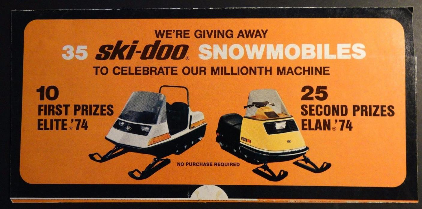 1974 SKI-DOO ELITE & ELAN SNOWMOBILE MAIL OUT  SALES BROCHURE    (257)