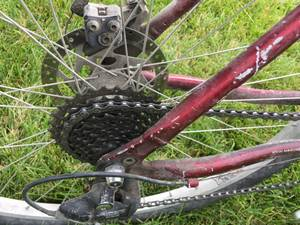 Marin Bobcat Trail mountain bike hybrid tires red $190 (NW Indianapolis)