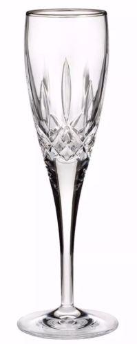 NIB Waterford Lismore Nouveau Platinum Champagne Flute Fine Crystal Glass