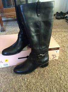 Leather Boots - 9 1/2 Wide Calf - Like New