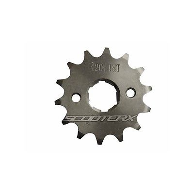 14 Tooth 17mm Replacement Sprocket 420 Chain Dirt Pit Bike ATV 50cc 80cc 60cc