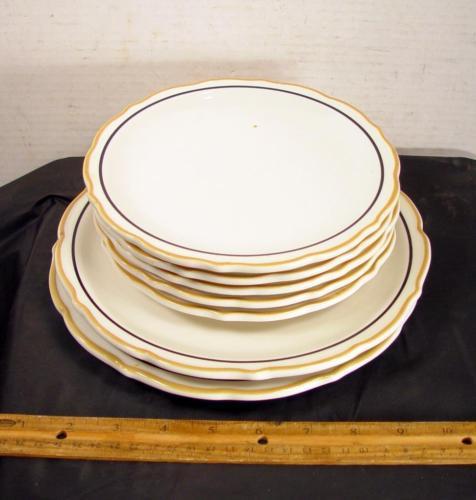 VINTAGE Syracuse China Restaurant Ware Dorado Plates Set of 7 Dinner Etc