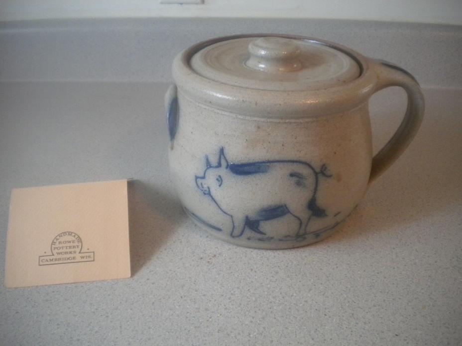 Handmade Rowe Pottery Works Bean Pot