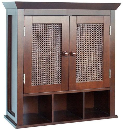 Bathroom Cabinet Wall Mount Kitchen Storage With Doors Accent Organizer