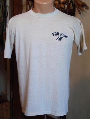 70s Vintage PRO KEDS T-Shirt Size L -Sneakers -Tennis Shoes