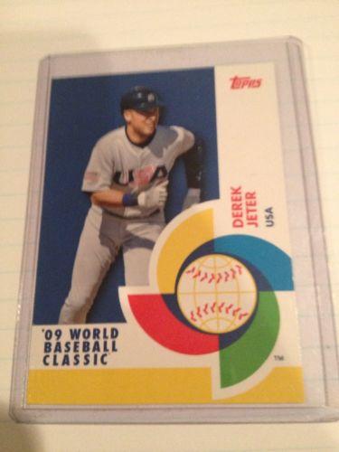 Derek Jeter 2009 Topps World Baseball Classic Card