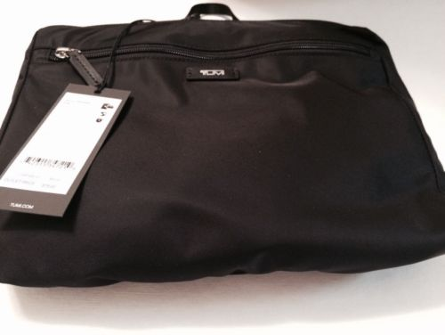 TUMI Denton Packable Tote Black New With Tags Nylon Leather Trim Turns Into tote