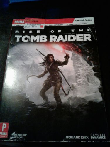 Rise of the Tomb Raider Official Guide by Prima Games NEW for Xbox 360 and one