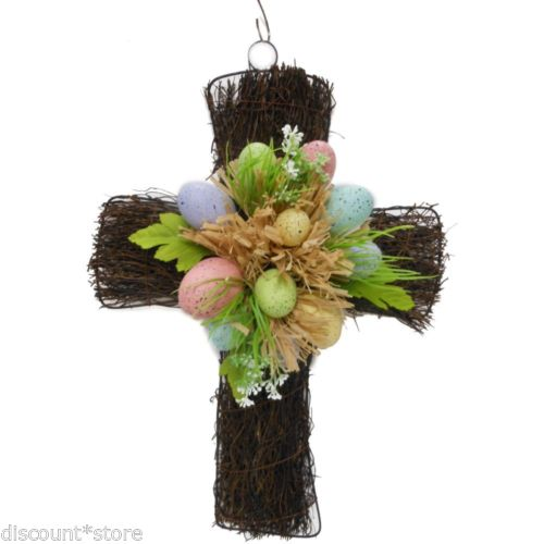 Easter Decoration Vine Cross Decor Diy Spring Wreath Craft Supply Natural Wall